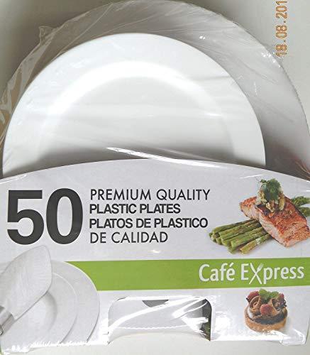 50 assiettes en plastique haute qualité pour 2 tailles 25 chaque 26 cm et 19 cm pour Mariage cas