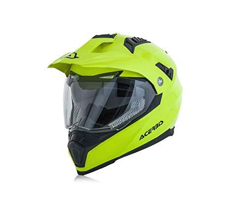Casco motocross amarillo neón de Acerbis