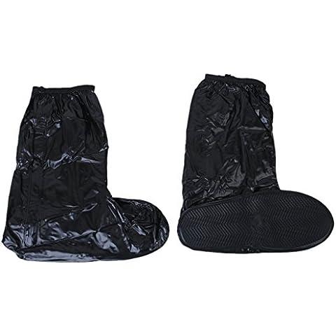 SODIAL (R) Impermeable y antideslizante Cubierta del zapato botas de lluvia reflectantes para montan motocicleta y bicicleta