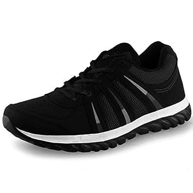 Lancer Men's Black Running Shoes-10 (INDUS-BLK-10)