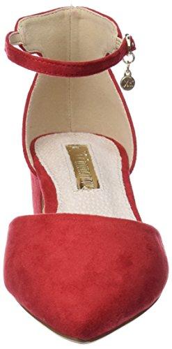 Xti 30749, Escarpins Bride Cheville Femme Rouge (Red)