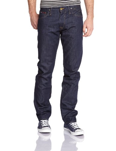 Tommy Jeans Hilfiger Denim Herren Straight Leg Jeans Ryan MRW, Gr. W34/L32, Blau (Michigan Raw)