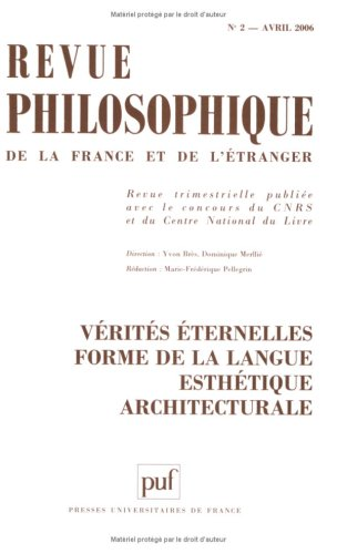 Revue philosophique, Tome 1161 N° 2, Avri