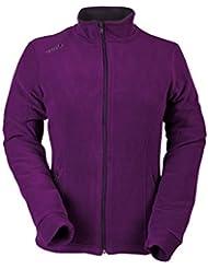 Izas Wheeler - Chaqueta polar para mujer, color violeta / gris oscuro, talla M