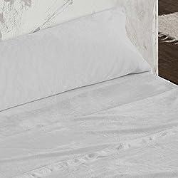 Burrito Blanco - Juego de sábanas Coralina 953 gris para cama de 150x190/200 cm