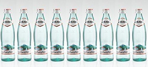 BORJOMI Mineralwasser - Sodawasser in einer Glasflasche - 0,5 Liter - 9er Pack