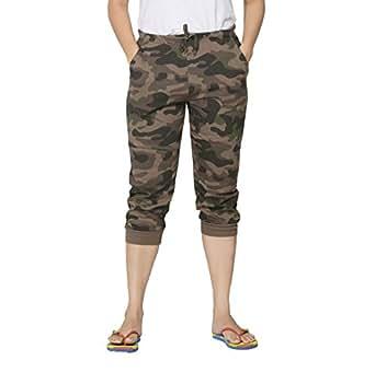 Clifton Womens Army Comfort Capri - Walnut - X-Small