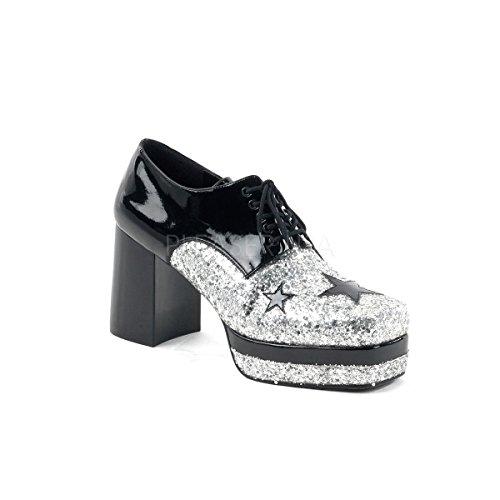 eauschuhe Glamrock-02 Schwarz/Silber 45 (Halloween-masken-kataloge)