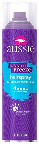 Aussie Laque capillaire Instant Freeze - Tenue extrême - 200 ml