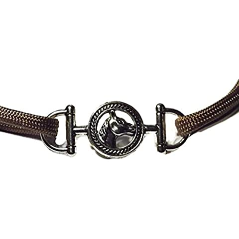 Horse Connector - Rope Bracelet Making Connect Charm - Great for Use with Midwest Cord 550 Paracord Survival Rope and Leather Cord - by Midwest Cord