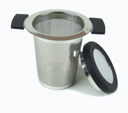 The tea makers of london - filtro per tè in acciaio inox, per una tazza, con maglia da 0,5 mm, colori: rosa/verde/nero nero