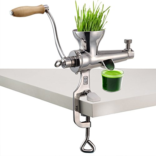 Wheatgrass Manual Entsafter, DIY Superb Juice Extraction Home für Soft Fruit Gemüse Heavy Duty Edelstahl Leafy Grün Juicer Kitchen Tool