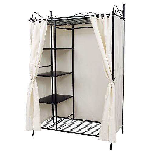 Songmics armadio cabina guardaroba appendiabiti in acciaio con copertura 170 x 58 x 108 cm rtg03h
