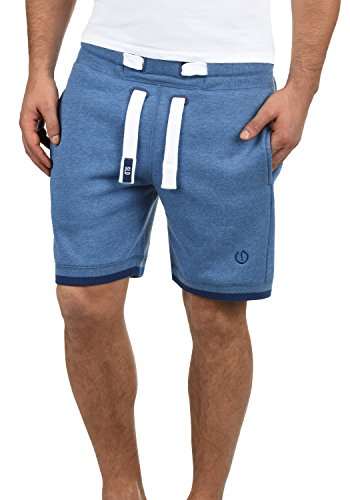 SOLID BenjaminShorts Herren Sweatshorts kurze Hose Sport-Shorts aus hochwertiger Baumwollmischung, Größe:L, Farbe:Faded Blue Melange (1542M) (Fleece Sweat Shorts)