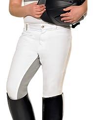 PFIFF / 100317 Pantalon d'équitation fond de peau gris Enfant
