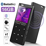 Lettore MP3 da 16 GB con Bluetooth 4.2, SUPEREYE Audio digitale portatile Lossless Sound lettore musicale, con radio FM/Registratore Vocale, supporto espandibile fino a 64G, cuffie incluse