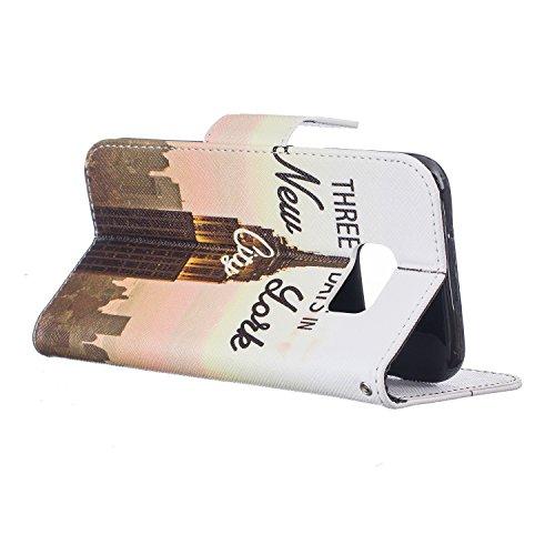 Cozy Hut® Samsung Galaxy S7 Edge Housse, Ultra-mince Etui En Cuir PU Flip Cassette Intérieur Pour Cartes Pour Samsung Galaxy S7 Edge New Mode Fine Folio Wallet/Portefeuille + Stand Support + Card Slot tour de transmission