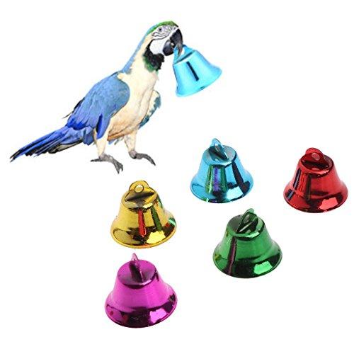 Multi-Color Pet Vogel Glocken Windspiele Für Papagei Spielzeug DIY Edelstahl Langlebig und Praktisch ()