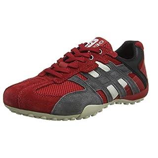 Geox Herren Uomo Snake K Sneaker Rot (Red/Black C0020) 41 EU