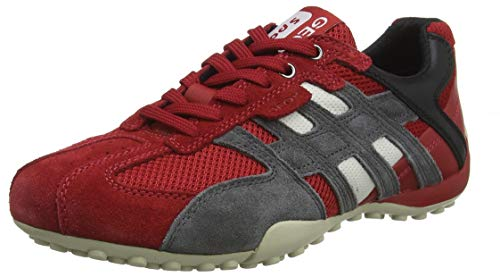 Geox Herren UOMO SNAKE K Sneaker Rot (Red/Black C0020) 40 EU Red Patent Schuhe