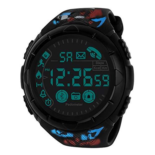 Relojes de Pulsera para Hombres Reloj Inteligente 24 Horas Monitoreo en Todo Tiempo 33 Meses Tiempo en Espera Honestyi