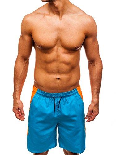 BOLF Herren Badehose Kurze Schwimmhose Sportlicher Stil MHM 200 Blau (Hell) M [7G7] | 05902646873862