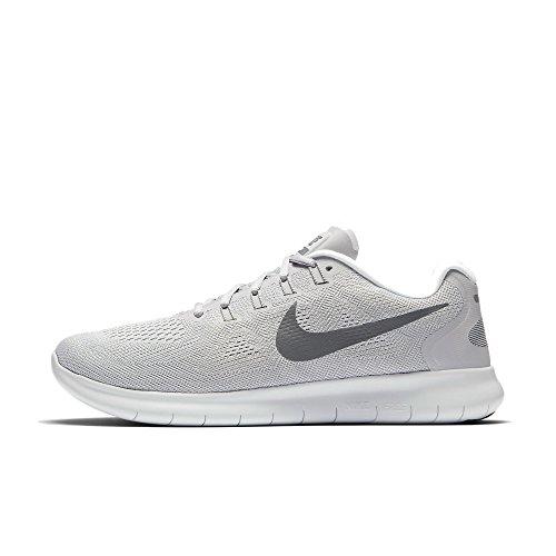 Nike Herren Free RN 2017 Laufschuhe, Grau (Wolf Grey/Dark Grey-Pure Gris Platinum-Off White), 42 EU