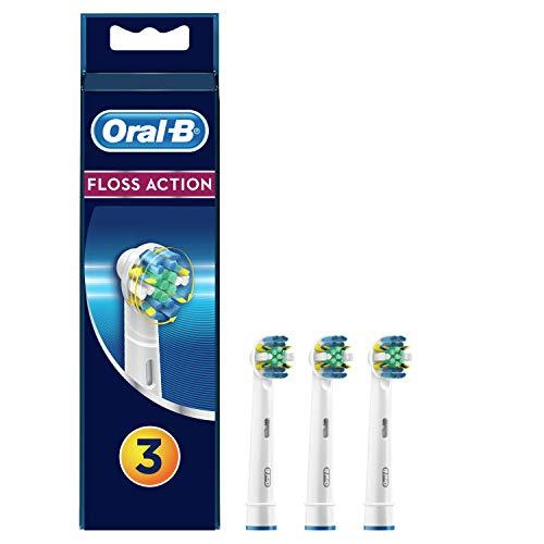 Oral-B FlossAction - Cabezal de Recambio, Set de 3 Recambios para Cepillo...