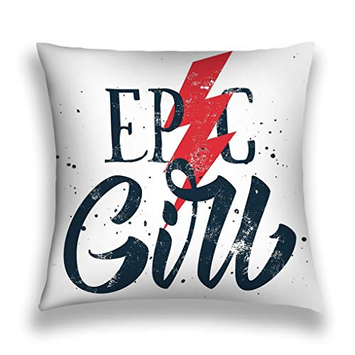 senbezüge Throw Pillow Cover Pillowcase Epic Girl Print White Background Sofa Home Decorative Cushion Case 18