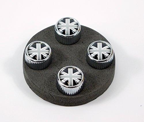 Chicago Mini (4 Ventilkappen Modell Chicago Motiv: UK schwarzweiß)