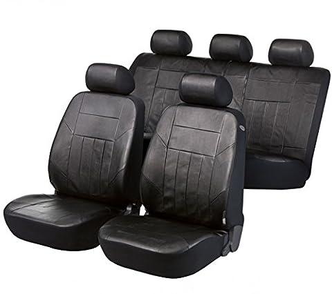 Ford C-Max, Housse siege auto, kit complet, noir, similicuir