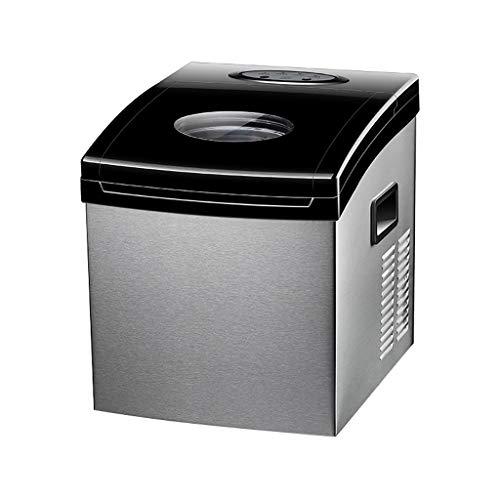 Du hui 55LB Square Ice Maker, Aufsatz-Eisbereiter für tragbare Geräte, 25 kg pro 24 Stunden, 2 auswählbare Würfelgrößen, 24 Eiswürfel in 15 Minuten fertig, Edelstahl (Farbe : Automatic Watering)