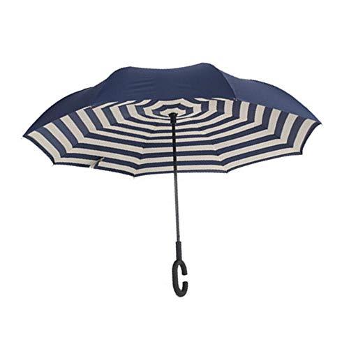 Alley.L Paraguas Forma C - Paraguas invertido Doble