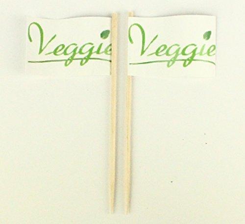 Party-Picker Flagge Veggie Blatt Gemüse Papierfähnchen in Profiqualität 50 Stück Beutel Offsetdruck Riesenauswahl aus eigener Herstellung (Veggie-bars)