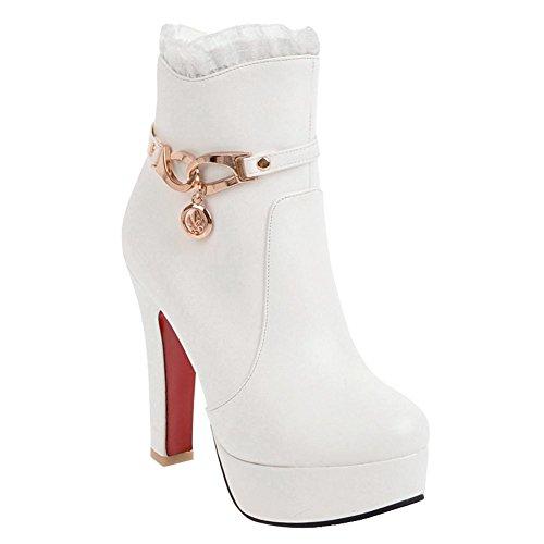 MissSaSa Donna Scarpe col Tacco Alto Elegante e Bella Bianco