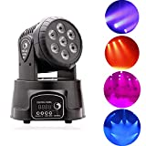 UKing Moving head 7 * 10W LED RGBW Bühnenbeleuchtung Discolicht Stimme Auto DMX512 Steuerung Professional Lichteffekte für DJ, Disco,Club Partei,Draussen