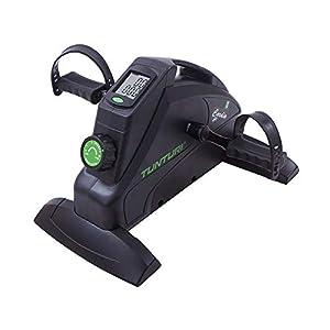 Tunturi Cardio Fit M35 Mini Bike Heimtrainer / Pedaltrainer / Arm- und beintrainer / Minifahrrad / Bewegungstrainer für senioren mit Magnetbremssystem und LCD-Bildschirmanzeige – Schwarz