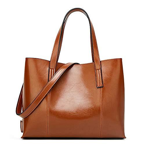 Tasche 2018 Mode Handtaschen Western Trend Damen Handtaschen Einfache Schulter Messenger Bag,Braun,Hlh