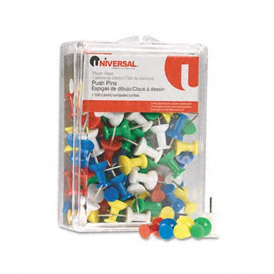 colored-push-pins-plastic-rainbow-3-8-100-pack-sold-as-1-package