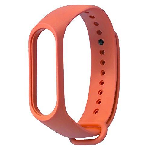 Upxiang 8 Farben Uhrenarmband, Ersatz-Silikagel-Armband-Band-Bügel + Metallkasten für Xiaomi Mi-Band 3 (Orange)