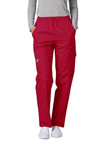 Adar Pantaloni Camice Medico - Pantaloni da Donna Uniforme Ospedale - 506 Colore: Red | Dimensione: L