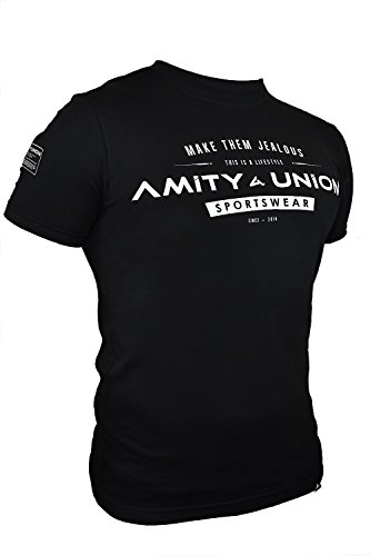 amityunion-t-shirt-fitness-schwarz-bodybuilding-kraftsport-gym-motivation-spruche-weiss-top-sportlic