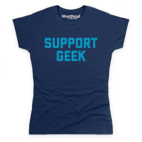 Support Geek T-Shirt, Damen Dunkelblau
