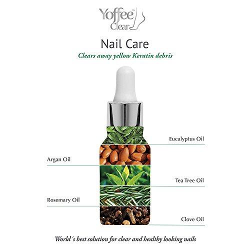 Yoffee Clear KIT 3 BEQUEMLICHKEIT effektive Pflege bei Nagelproblemen Mit Arganöl, Teebaumöl und Nelkenöl für gestärkte und gesund aussehende Nägel. 10ml