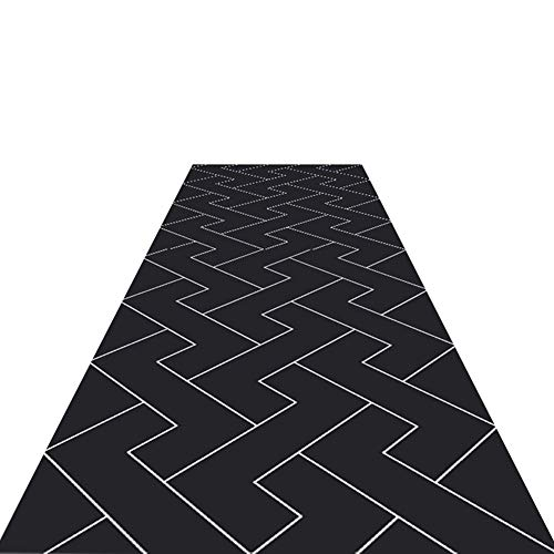 Alfombras de Pasillo Negra Runner para Pasillo Pasillo Escaleras Rectángulo Modernas Simples De Área...