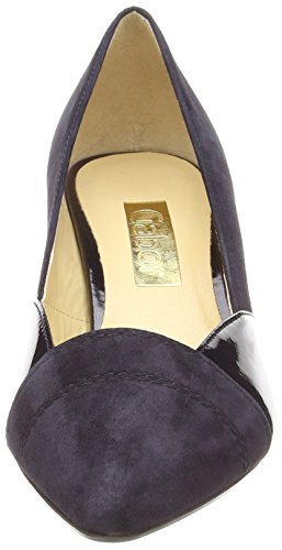 GaborAmberly - Scarpe con Tacco donna Blu (Blue (Dark Blue Suede/Patent HT))