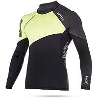 2017 Mystic Crossfire Long Sleeve Rash Vest Lime 170280 Size - - Medium