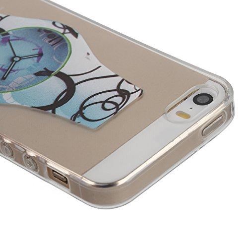 iPhone 6/6S 4.7 Custodia,Ukayfe Elegante Bling Design Particolari Colore Custodia in Gel TPU Silicone, Ultra Sottile Bumper Shell Cover e Cristallo Diamante Glitter Lucido morbido protettiva TPU Case  Orologi Blu