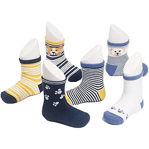 zando Boy Toddler Infant Unisex Baby Cotton Soft Cute Tema Lote de calcetines