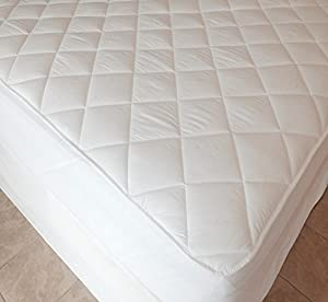 """Extra Deep 40cm (16"""" approx) Luxury Quilted Fitted Mattress Protector by Viceroybedding"""